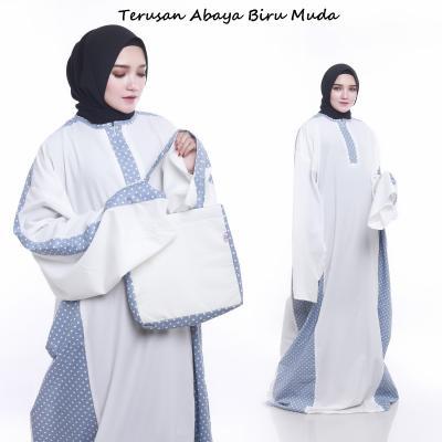 Mukena Terusan Abaya Biru Muda